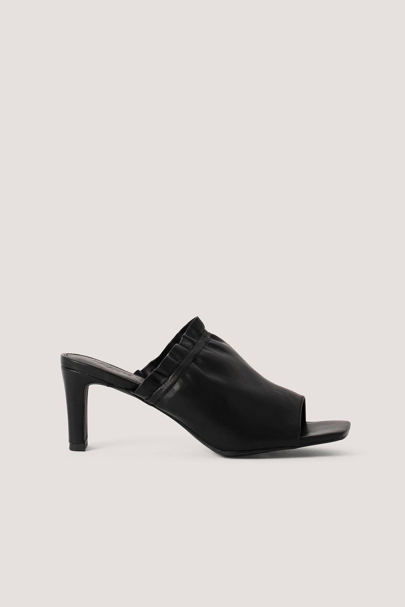 na-kd shoes -  Elastic Mules - Black