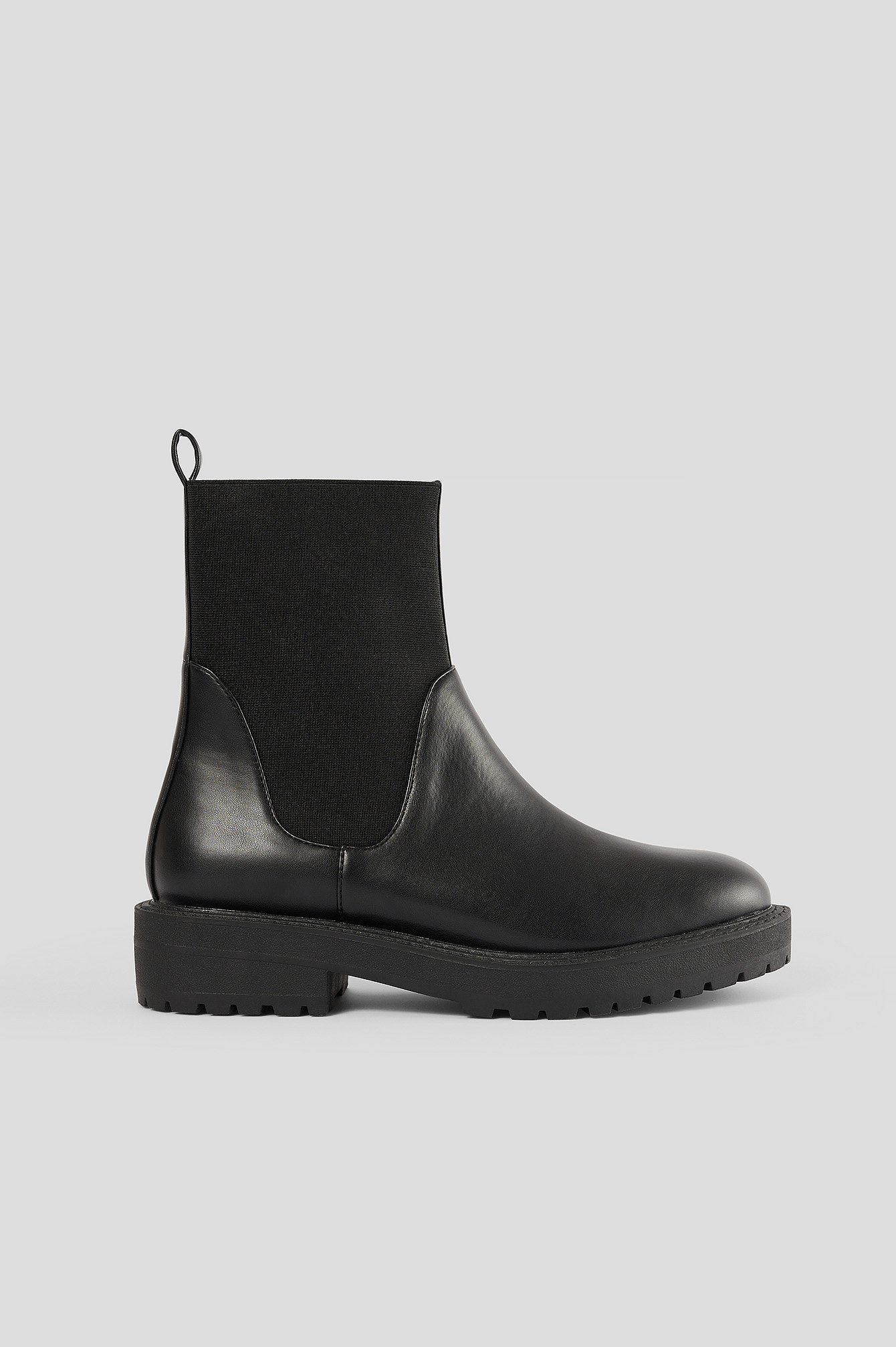 na-kd shoes -  Chelsea-Stiefel Mit Elastischem Schaft - Black