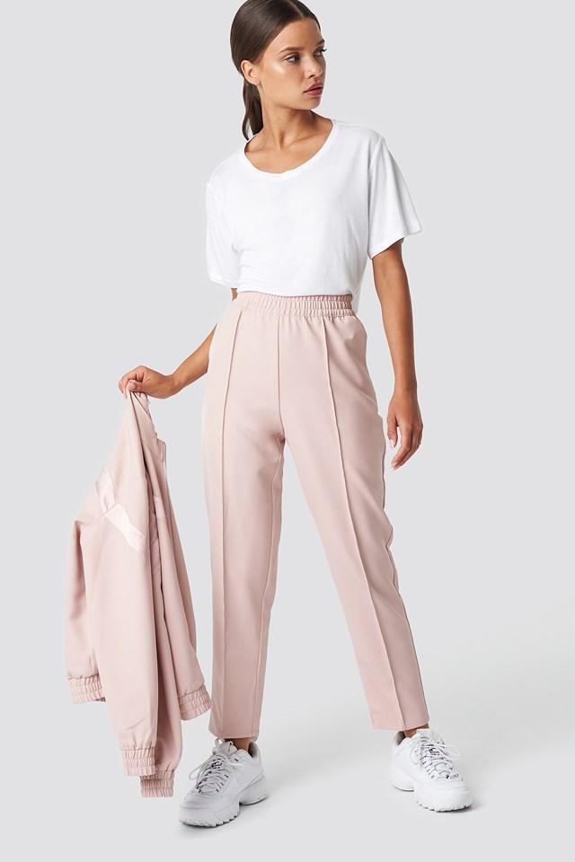 Elastic Waist Seamline Pants NA-KD.COM