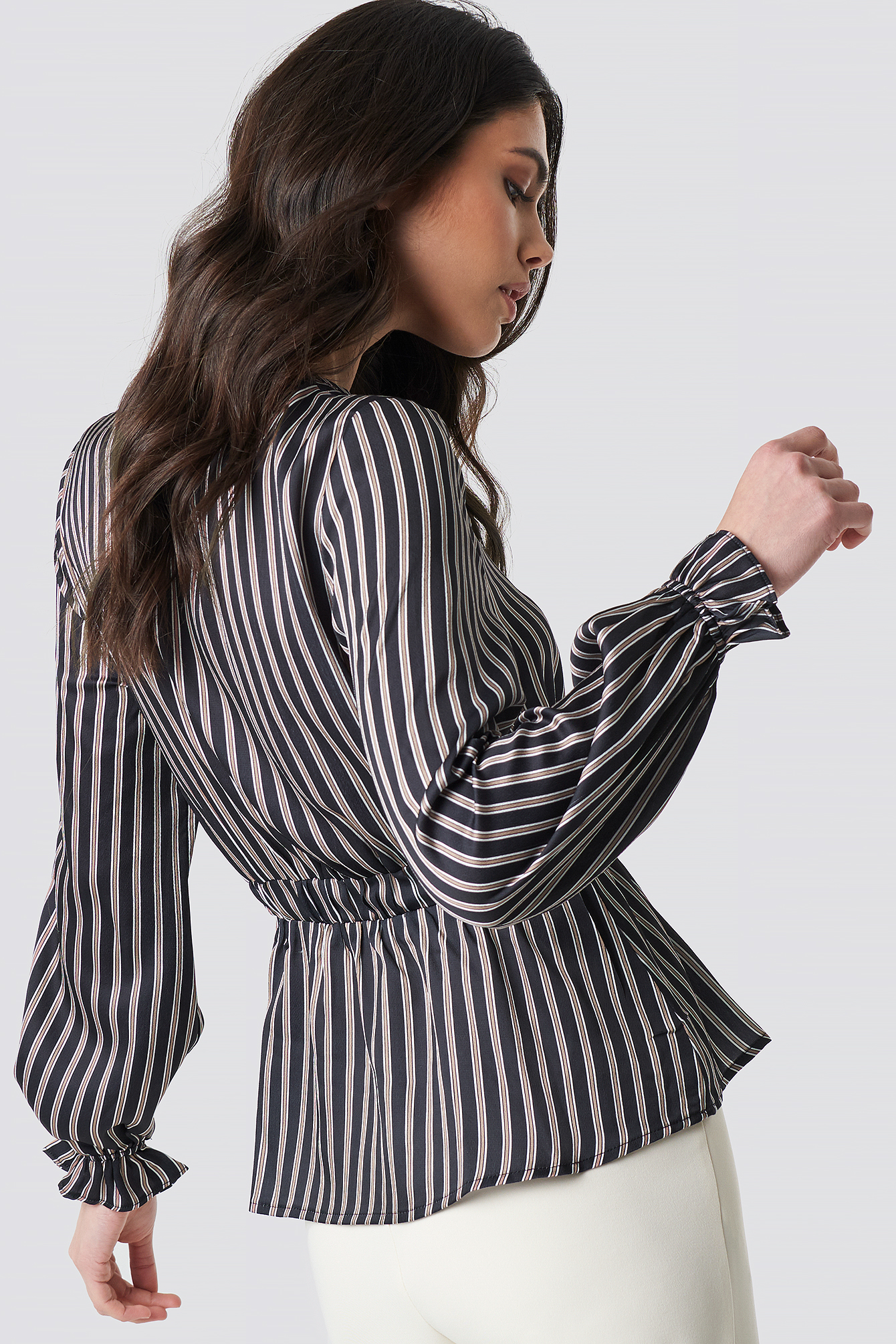 Elastic Waist Striped Top NA-KD.COM