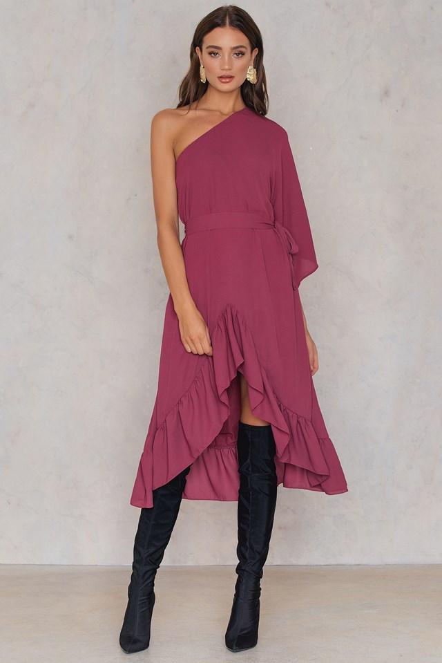 Ellen Dress Dark Rose