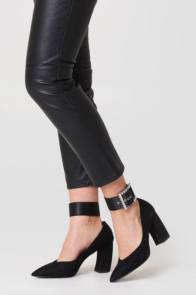 Embellished Ankle Cuffs Black