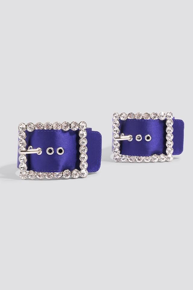 Embellished Ankle Cuffs Cobalt