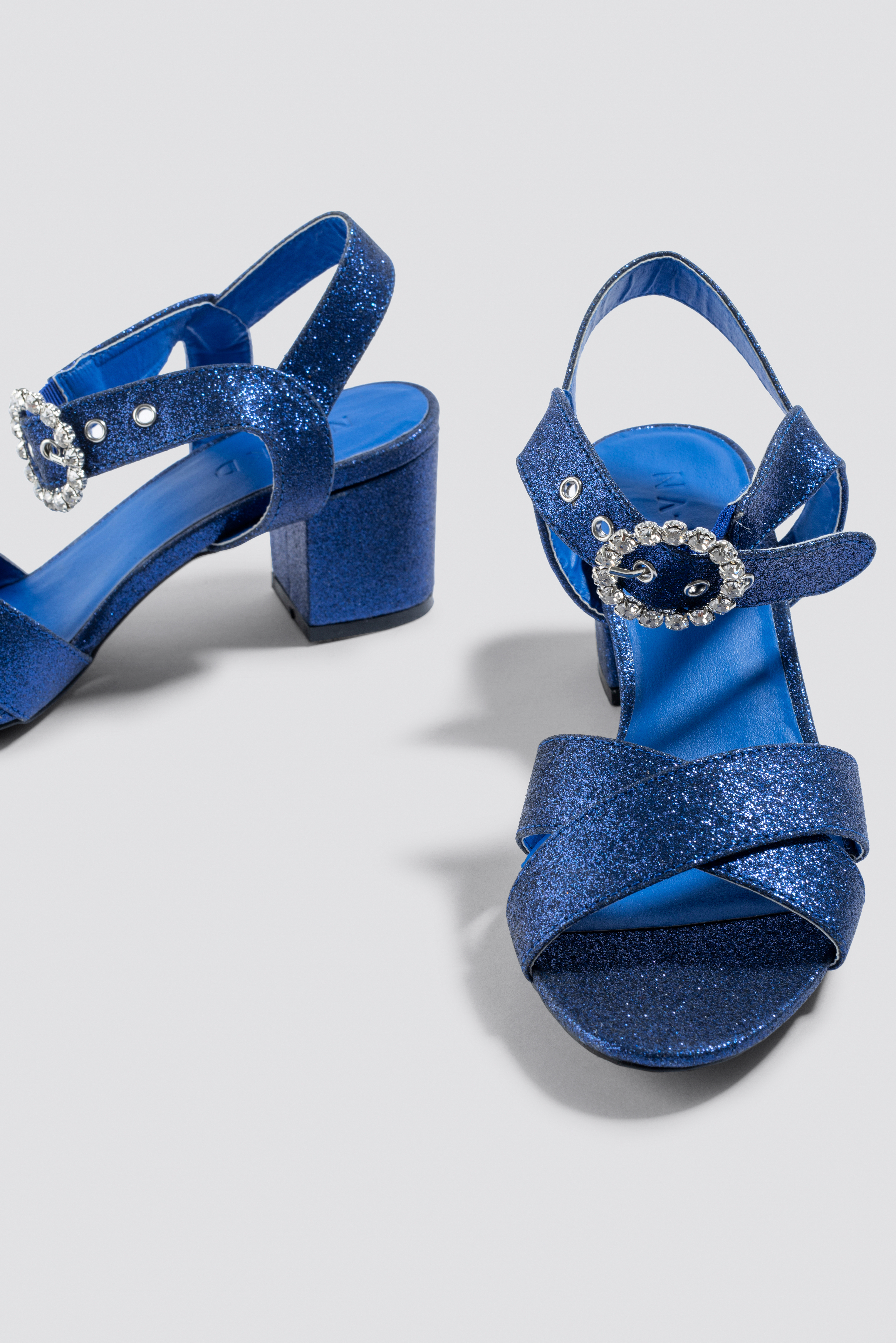Embellished Buckle Glitter Sandals NA-KD.COM
