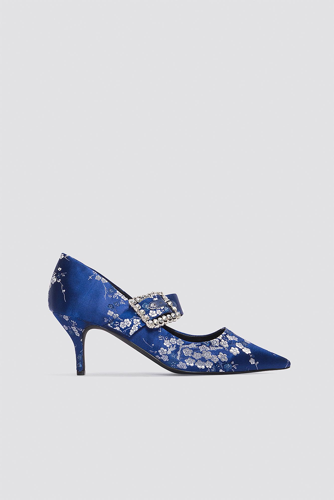 Embellished Buckle Mid Heels NA-KD.COM