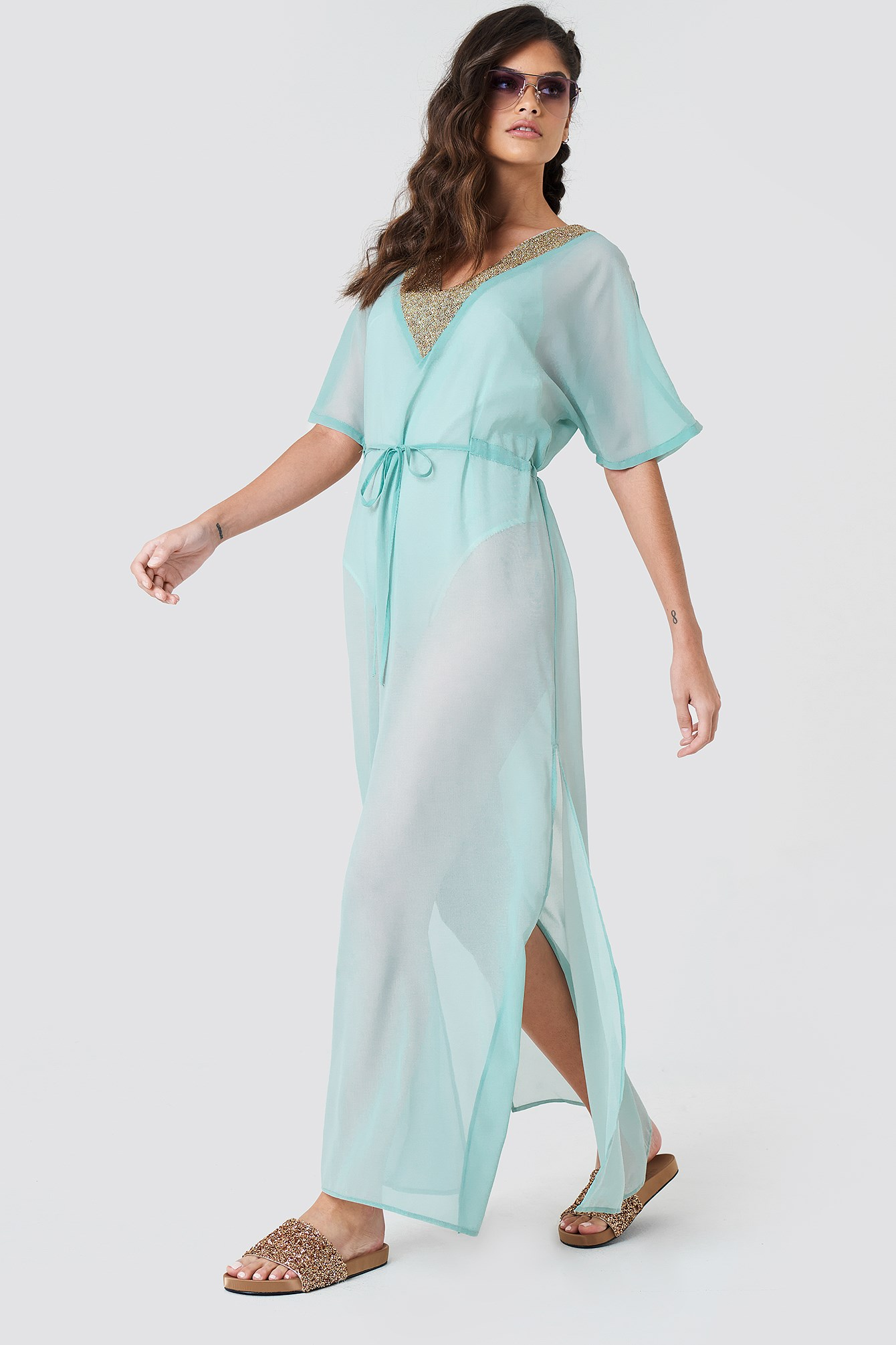 Embellished Caftan Dress NA-KD.COM