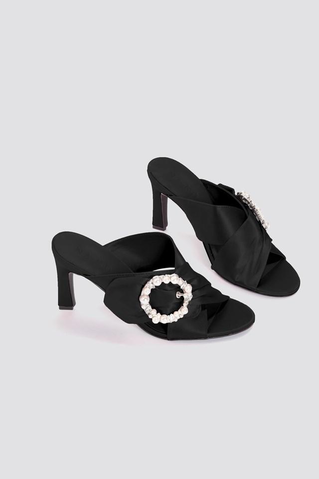 Embellished Heeled Mule Sandals NA-KD Shoes