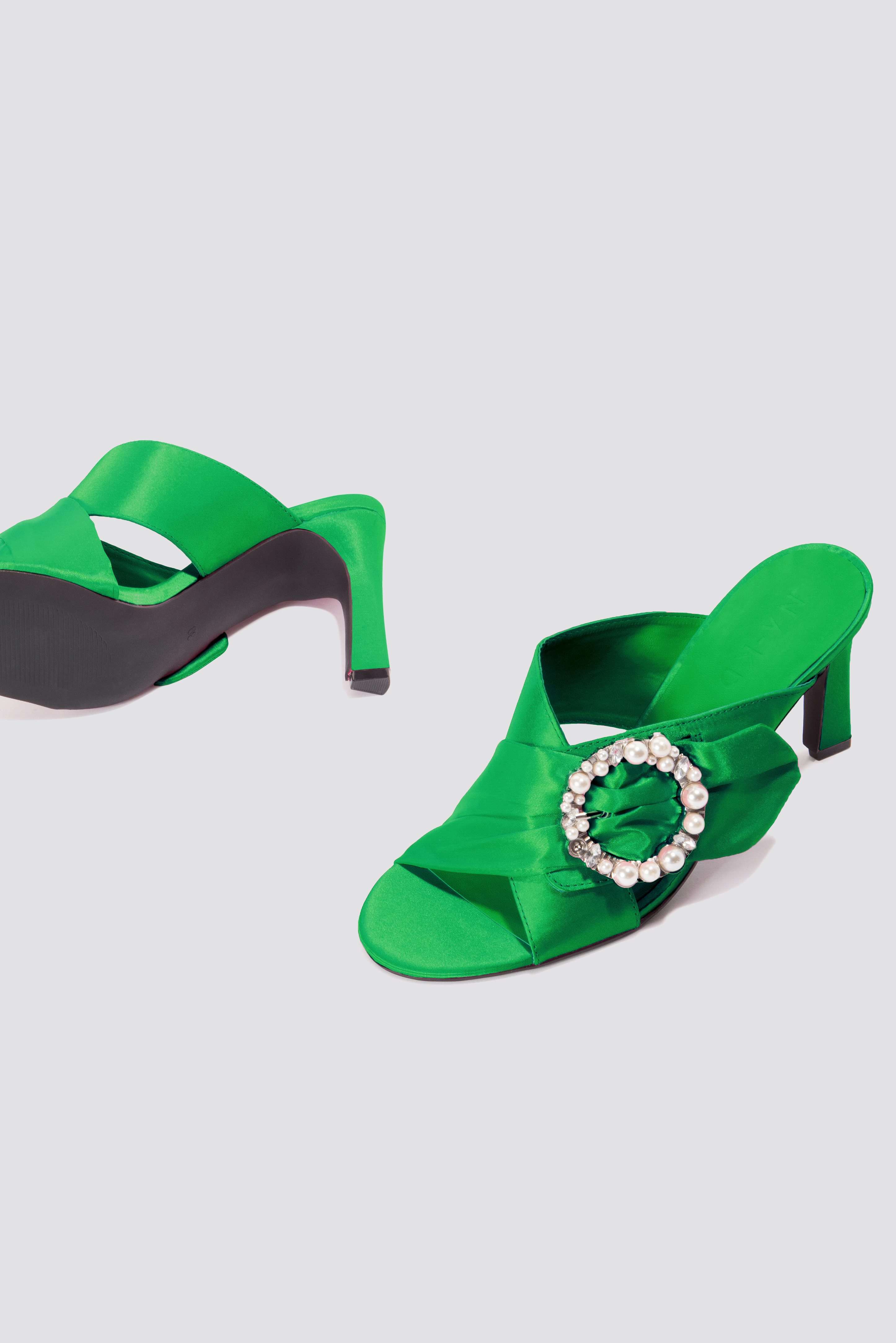 Embellished Heeled Mule Sandals NA-KD.COM
