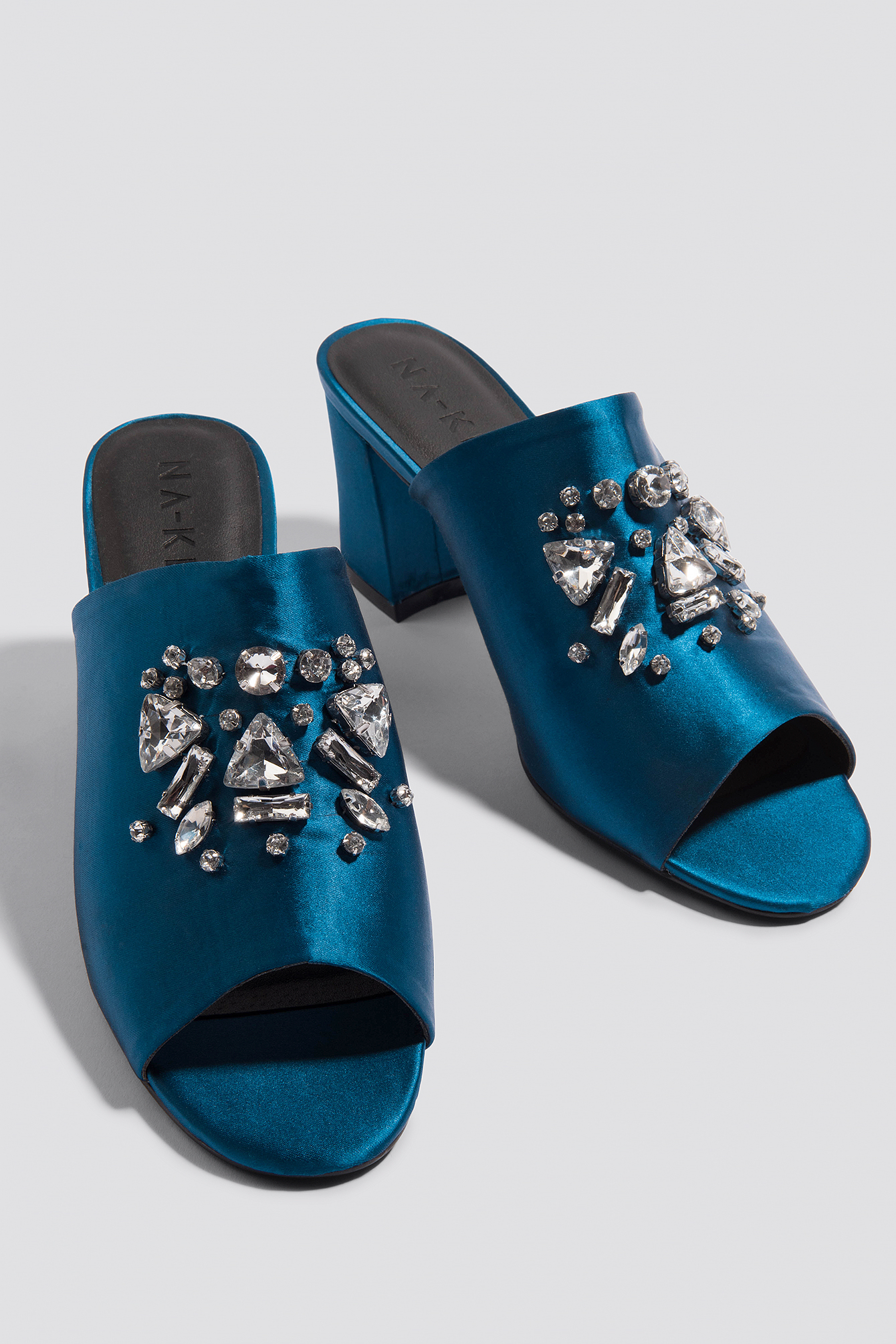 Embellished Mule Sandals NA-KD.COM