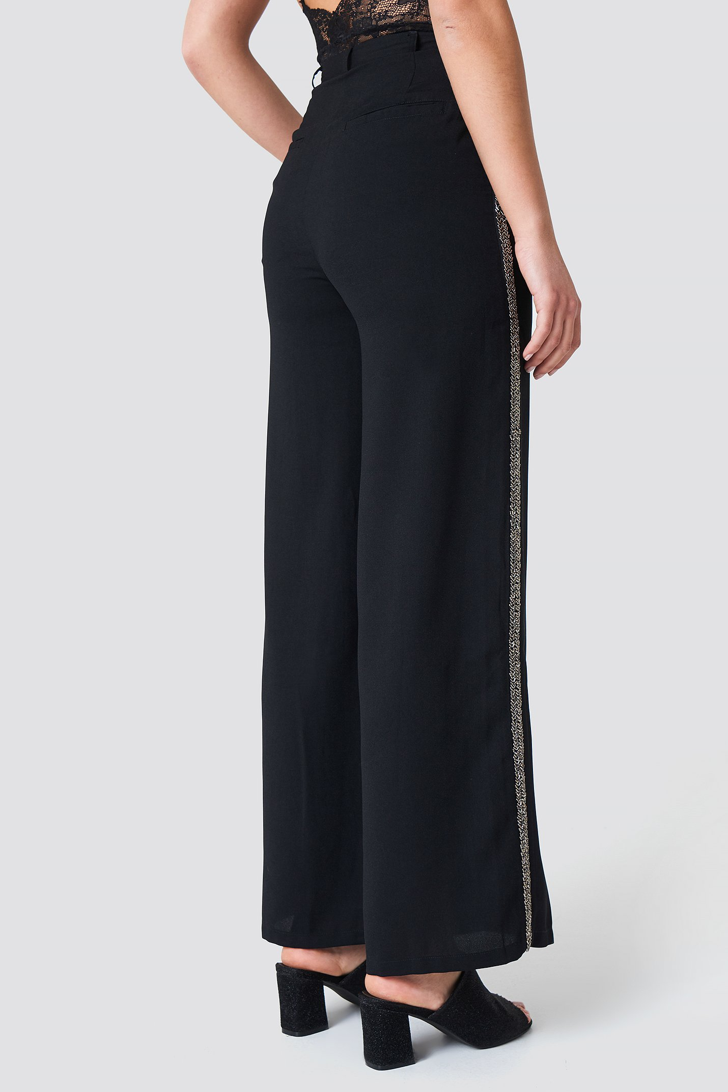 Embellished Side Stripe Pants NA-KD.COM