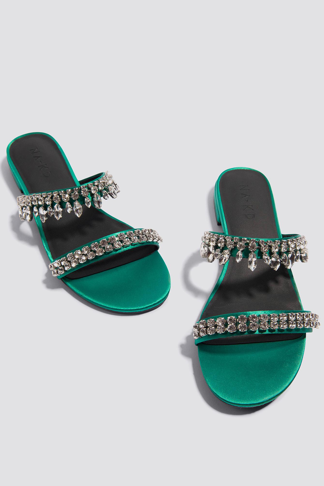NA-KD Embellished Slip-In Sandals 3OAL3UFej