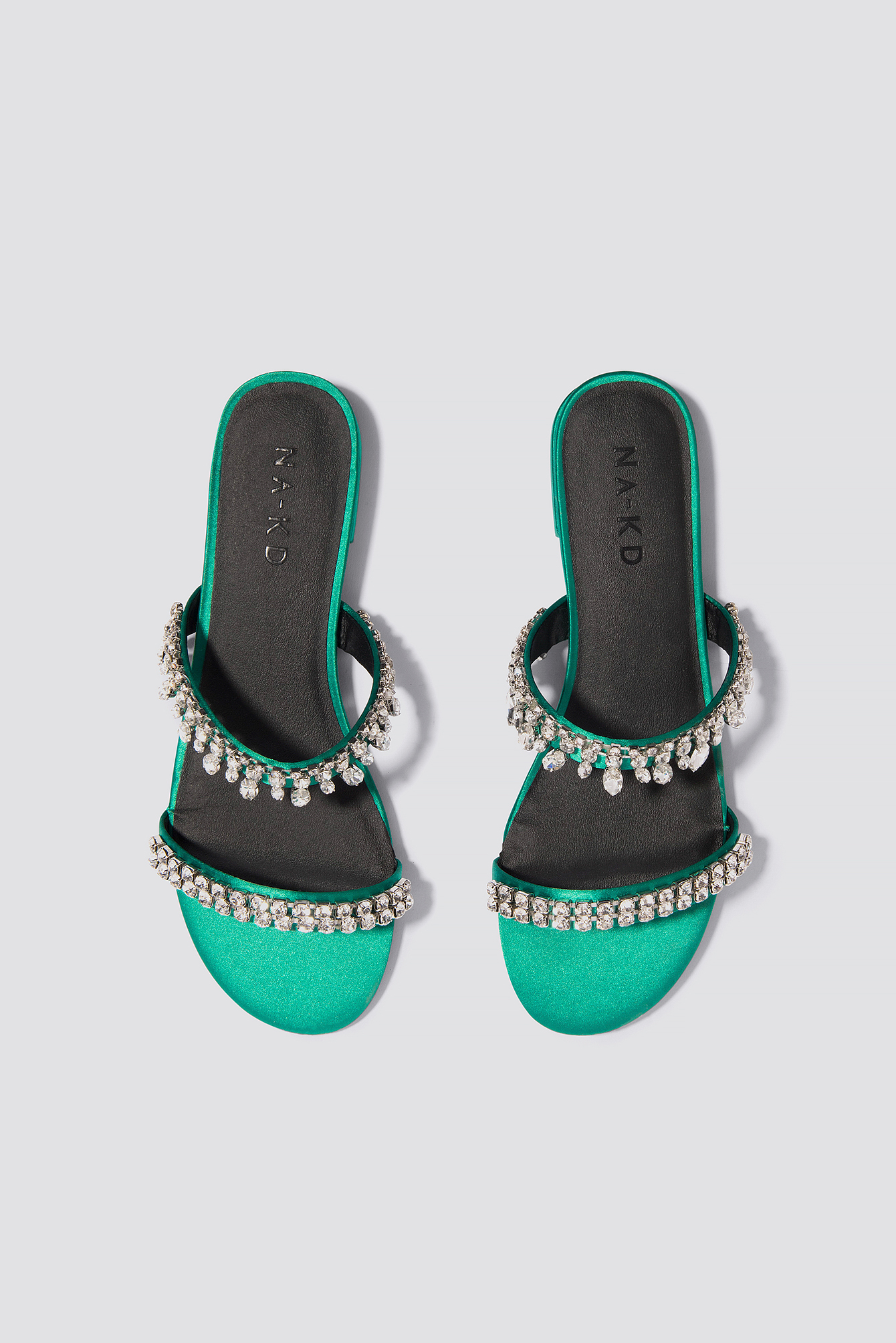 Embellished Slip-In Sandals  NA-KD.COM