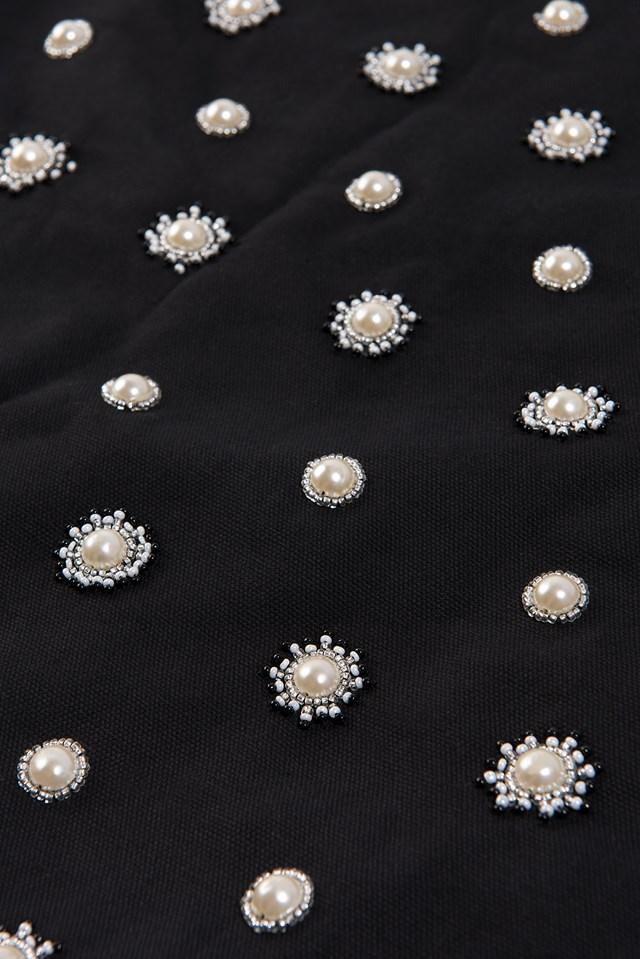 Embellished Tote Sack Black