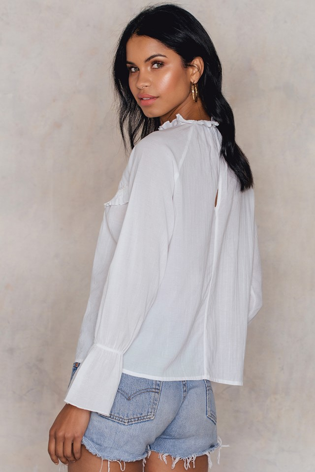 Embroidery Blouse Offwhite