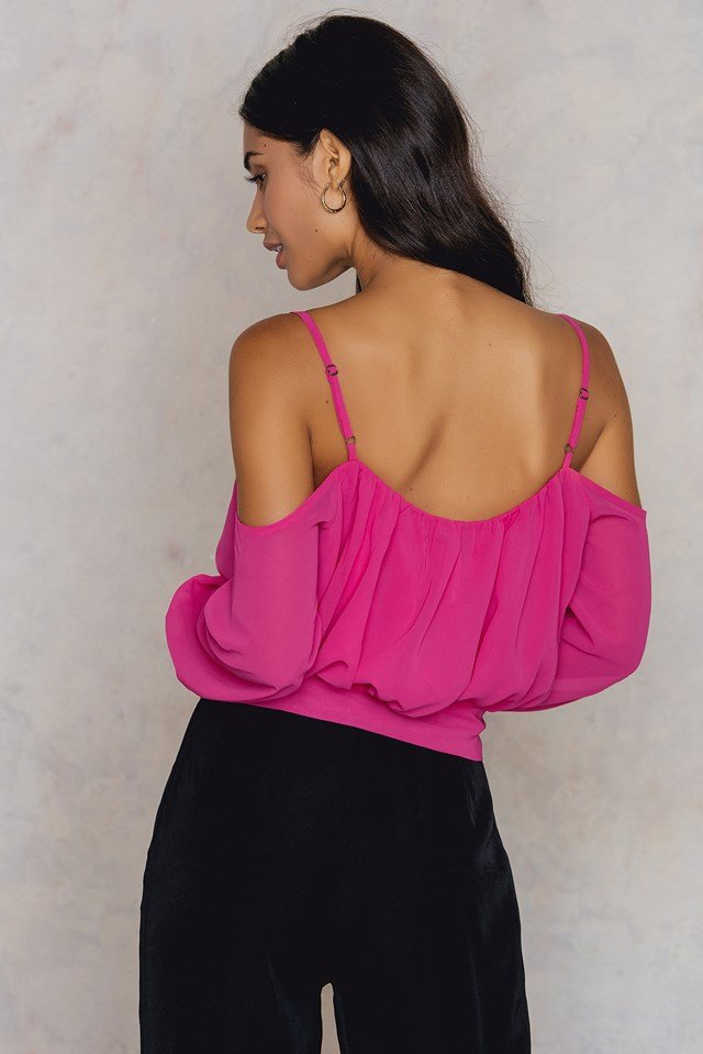 Embroidery Knot Top Pink