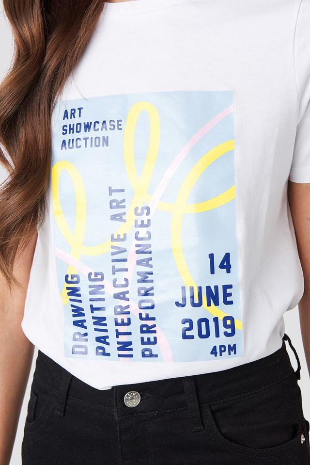 Exhibition T-shirt Optical White