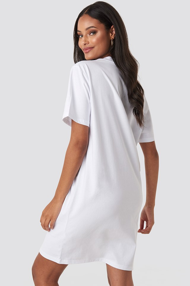 Expectation T-shirt Dress White