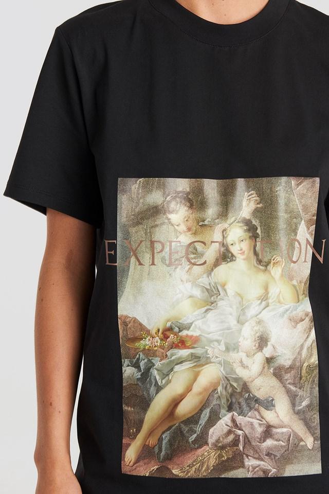 Expectation T-shirt Dress Black