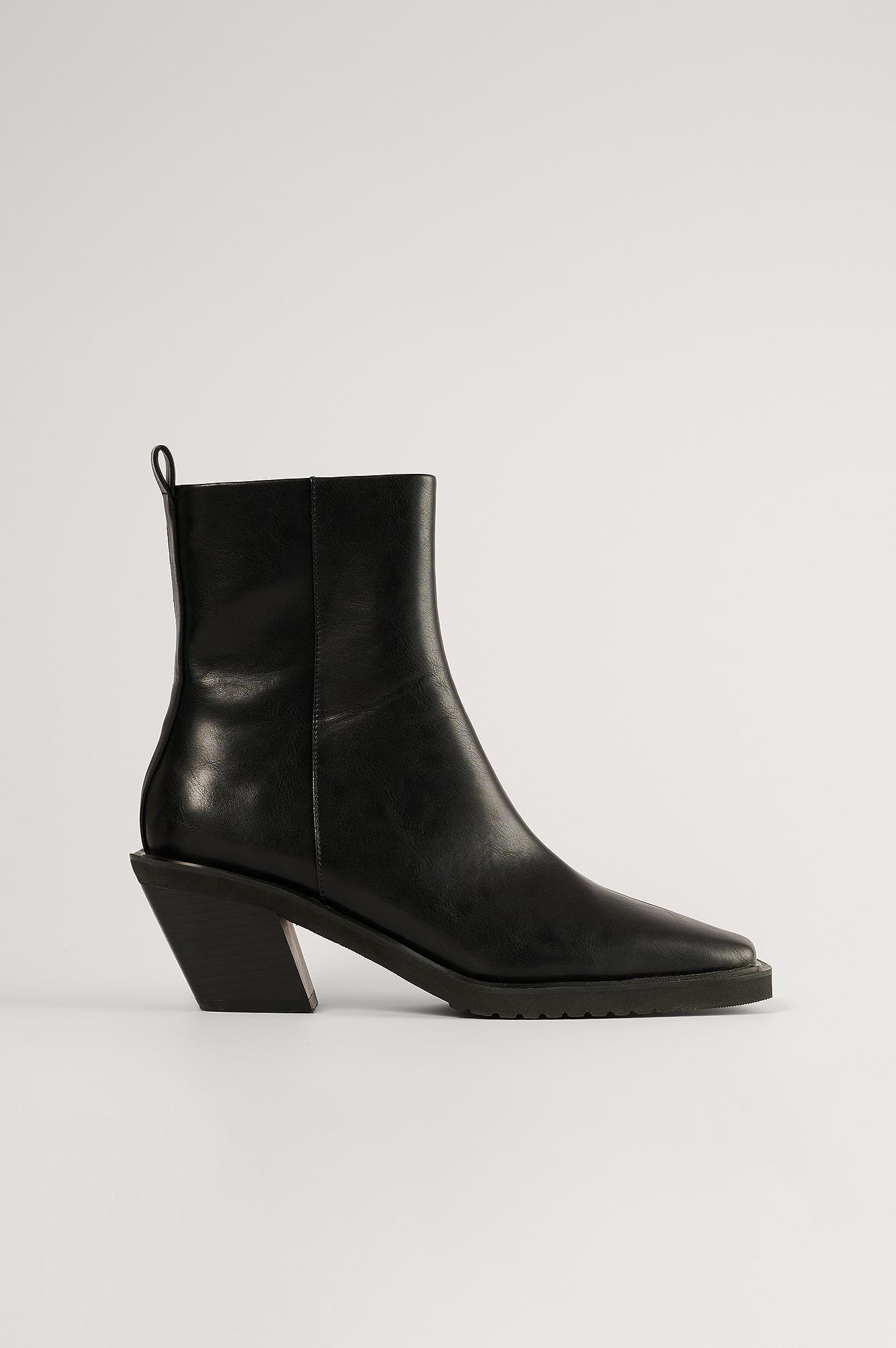 NA-KD Shoes Støvler - Black