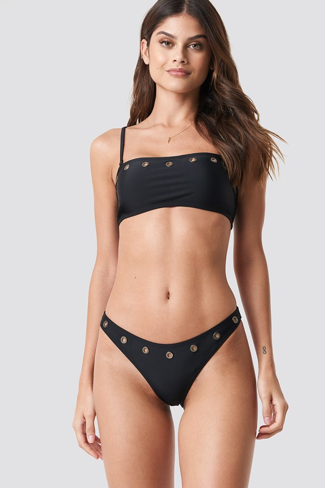 Eyelet High Cut Panty NA-KD Swimwear