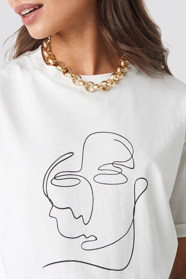 Faces Tee Off White