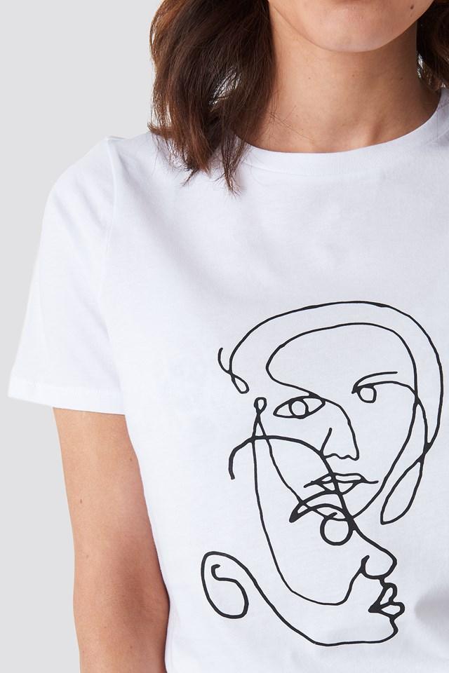 Faces T-shirt NA-KD.COM