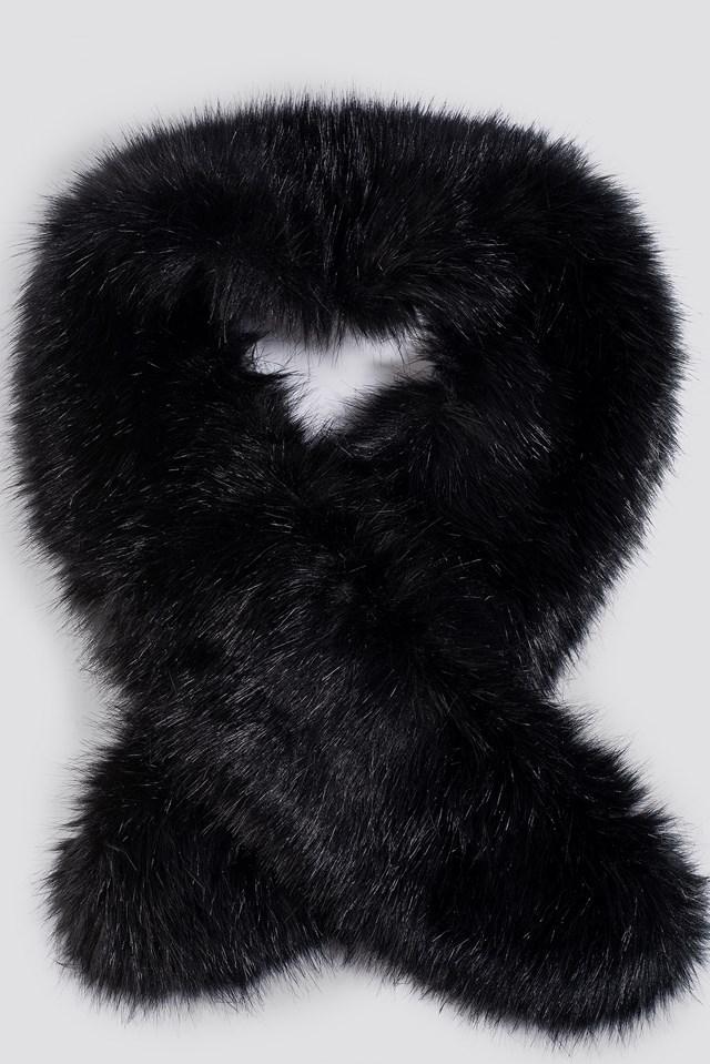 Fake Fur Stola Black