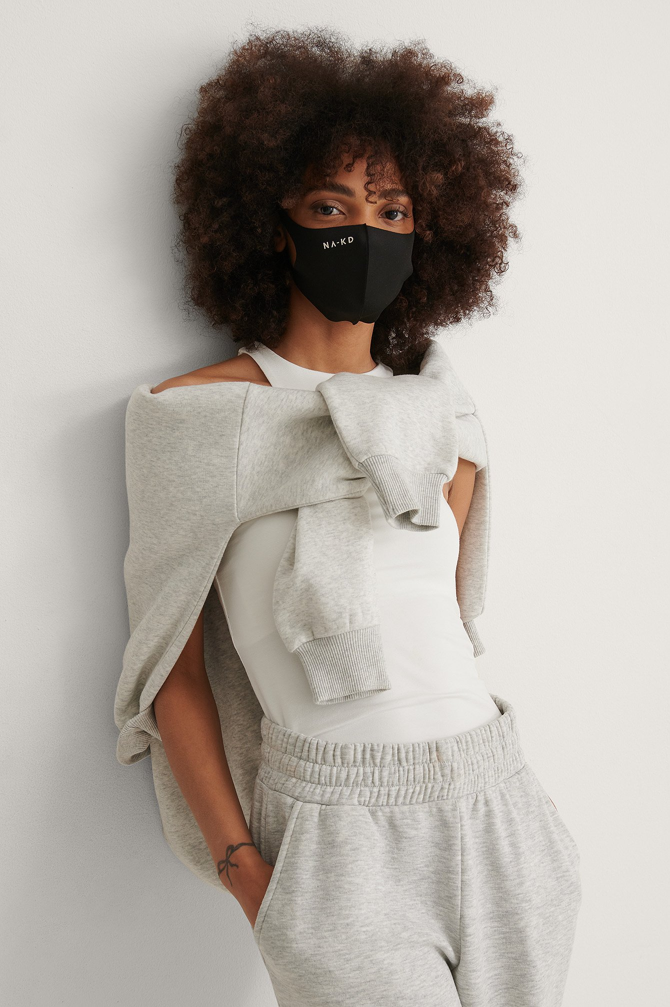 Black Fashion Mask - Icke-Medicinsk