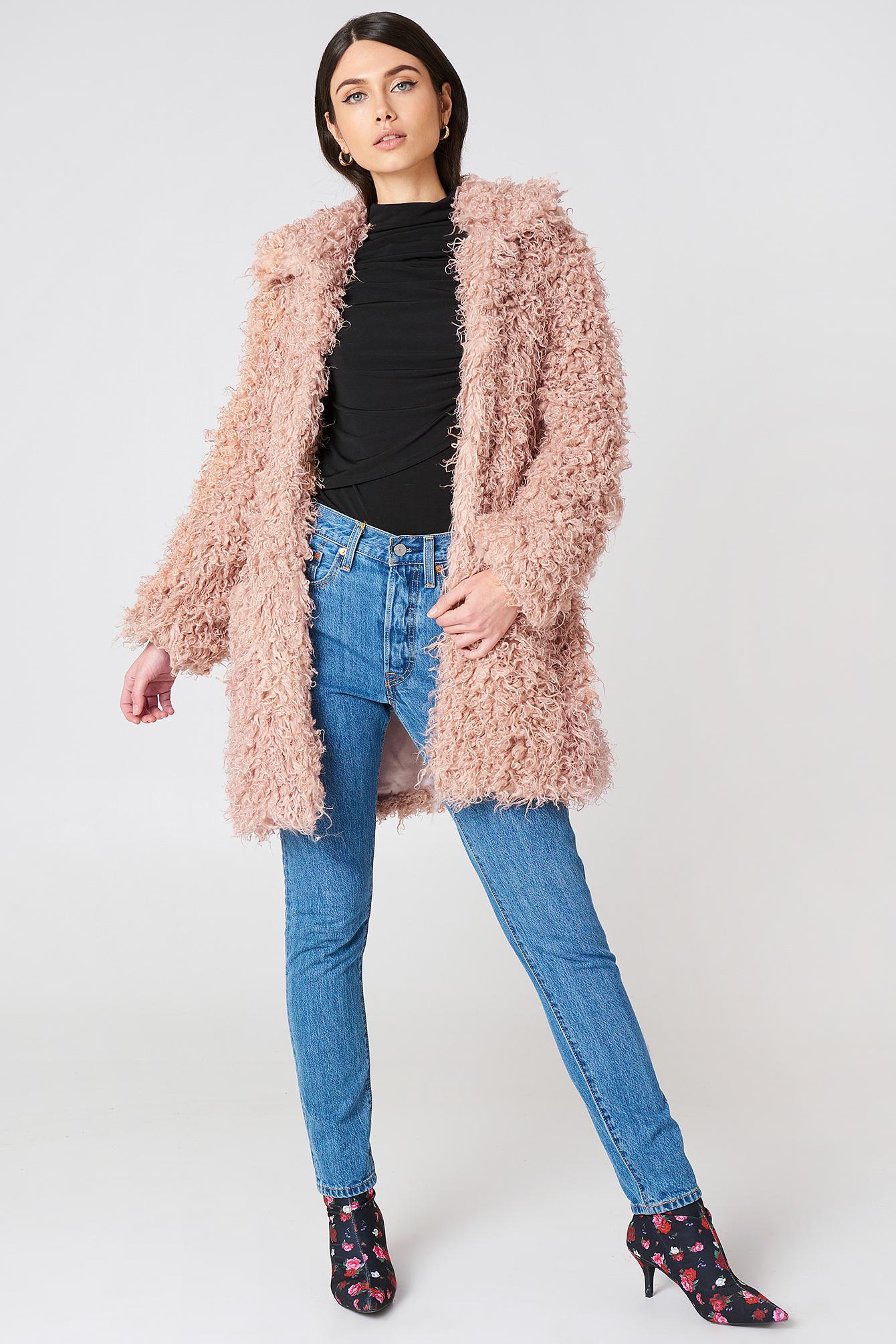 Faux Fur Coat NA-KD.COM