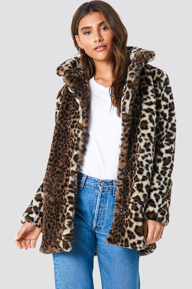 Faux Fur Leo Jacket Leopard