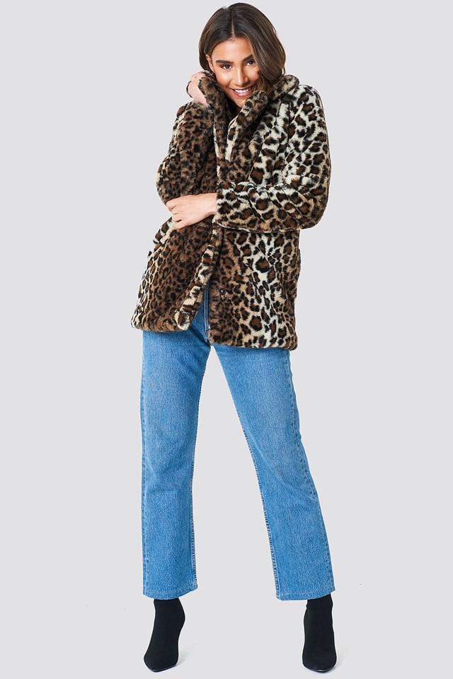 Faux Fur Leo Jacket Leopard