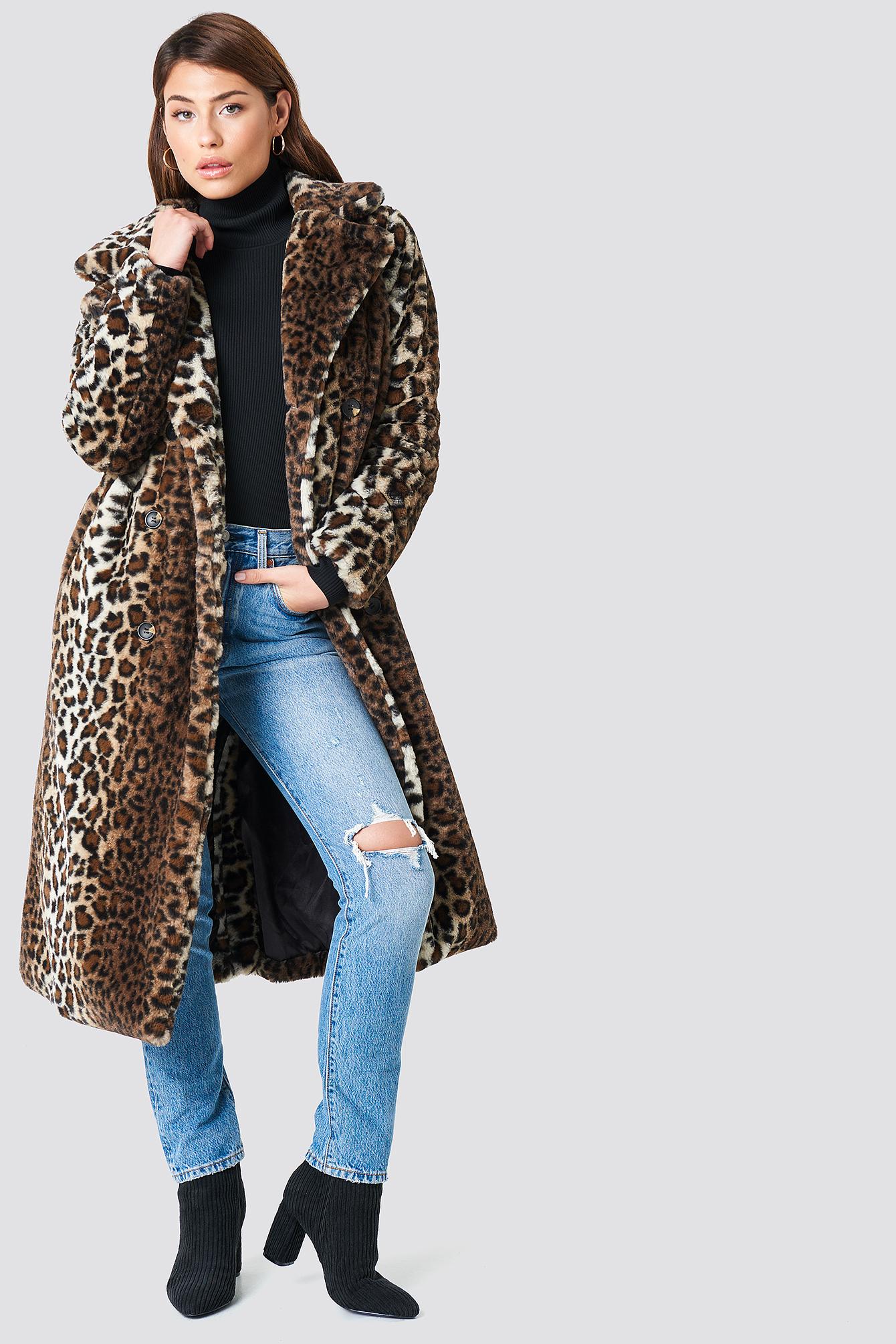 Faux Fur Leo Coat NA-KD.COM