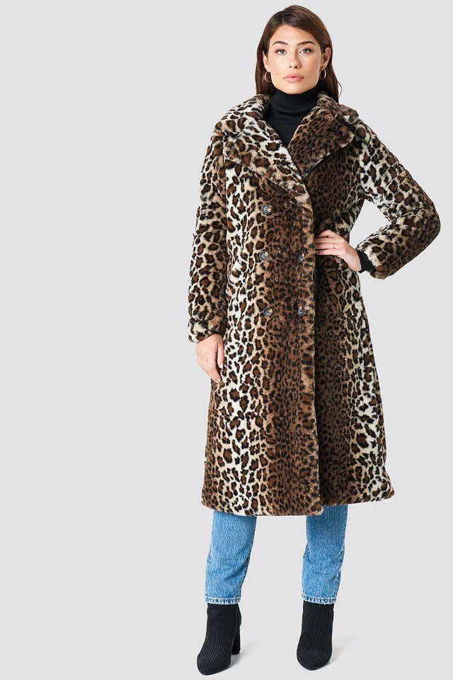 Faux Fur Leo Coat NA-KD.COM