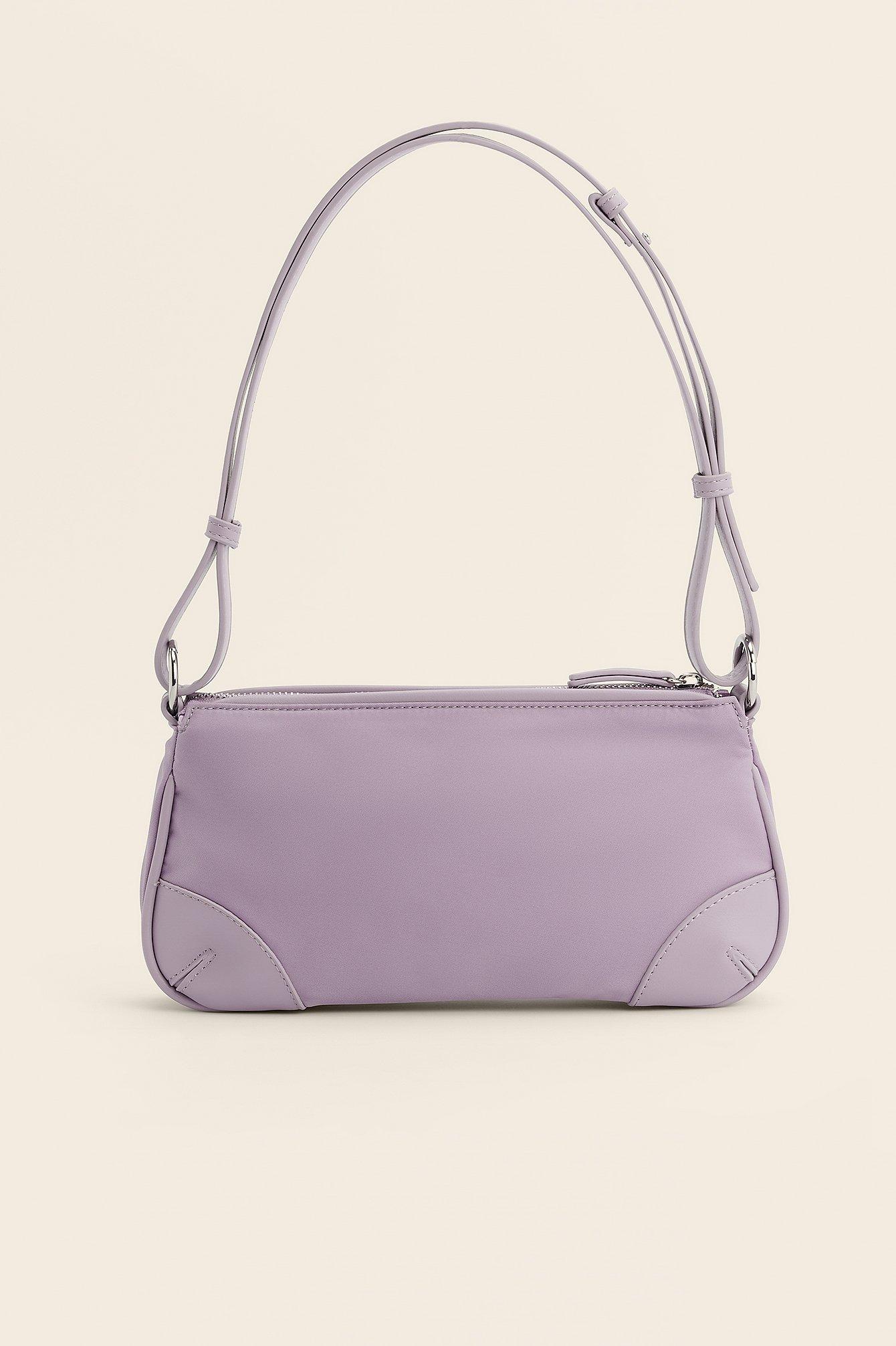 NA-KD Accessories Baguettetaske I Kunstlæder Med Detalje - Purple
