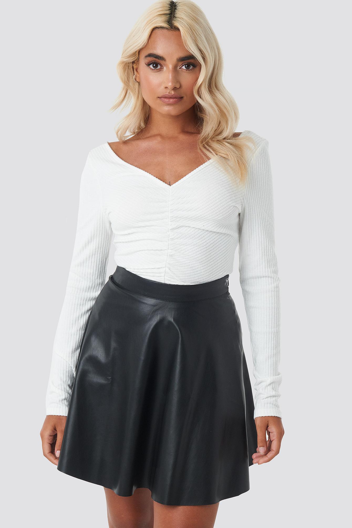 Faux Leather Mini Skirt NA-KD.COM