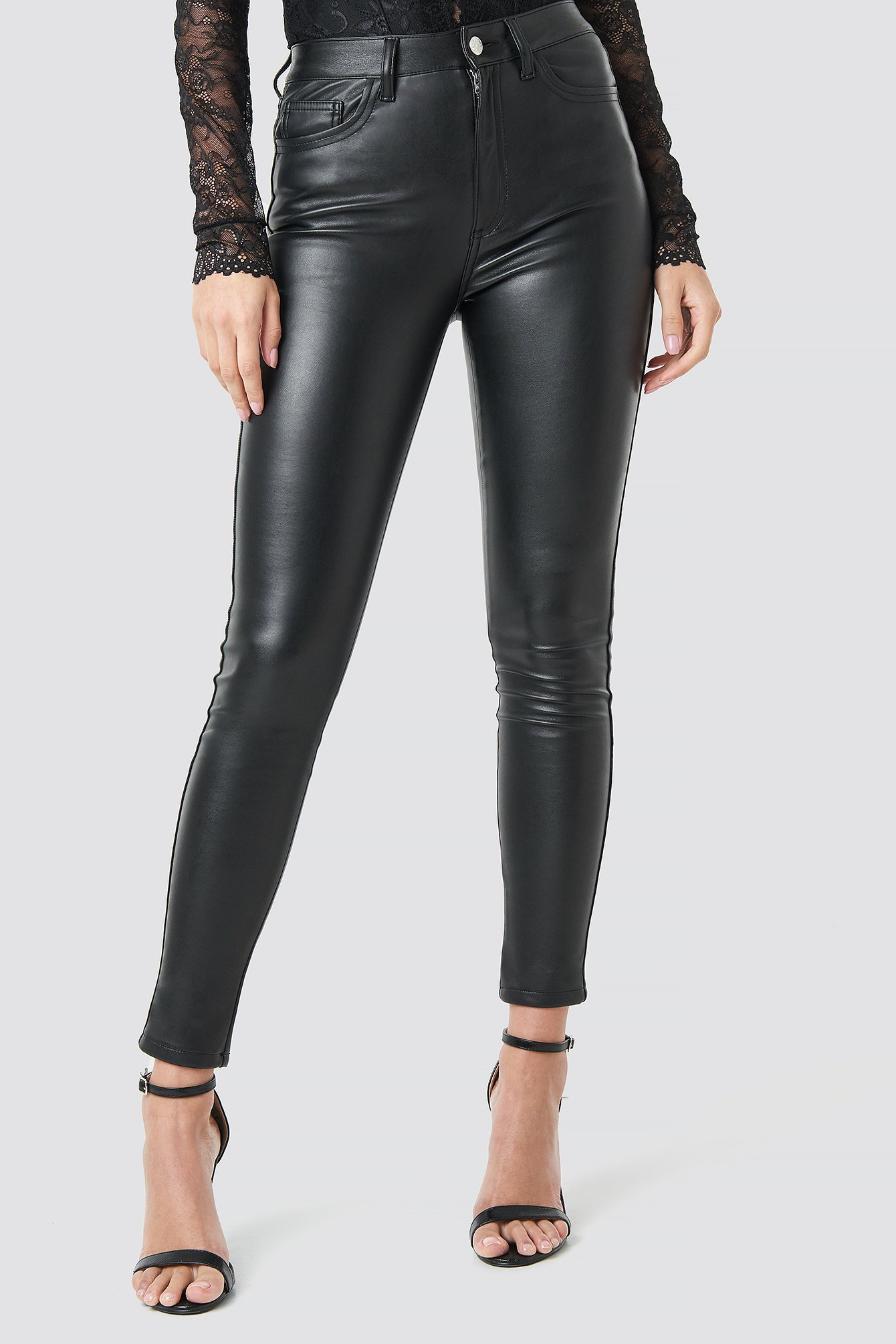 Faux Leather Trousers NA-KD.COM