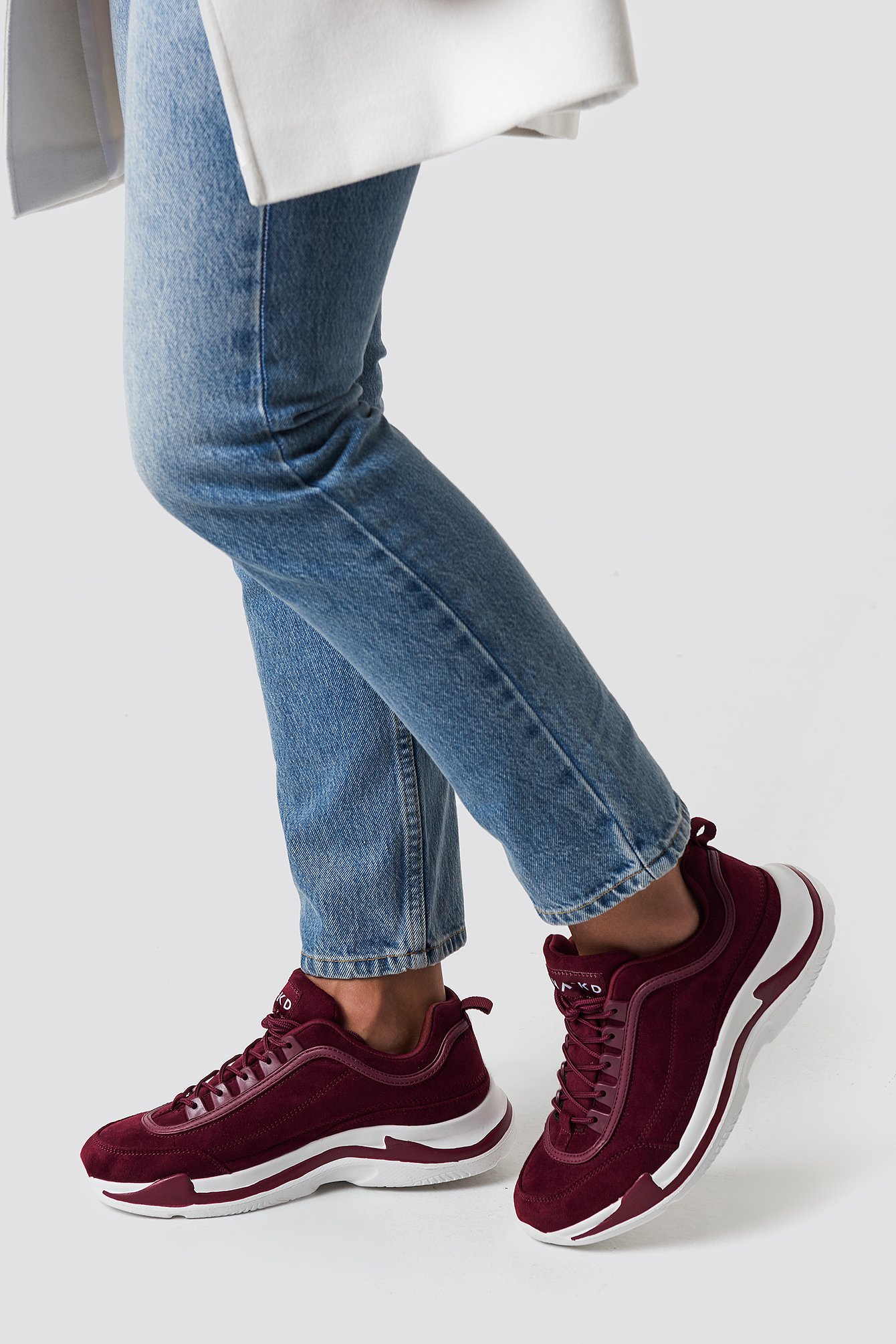 Faux Suede Chunky Trainers NA-KD.COM