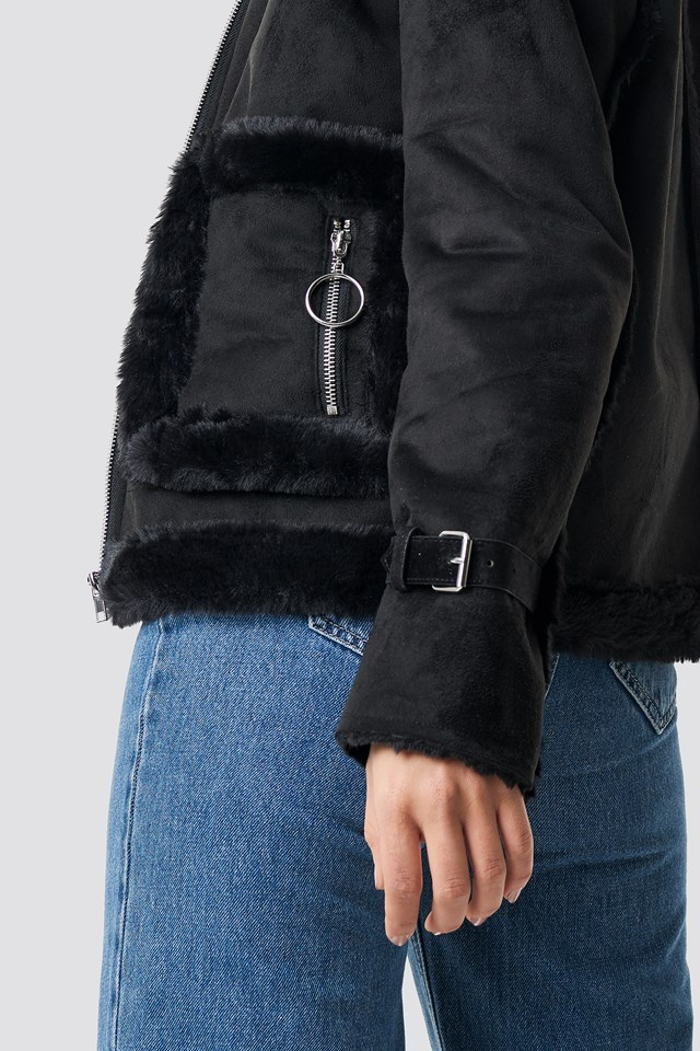 Faux Suede Fur Jacket NA-KD.COM