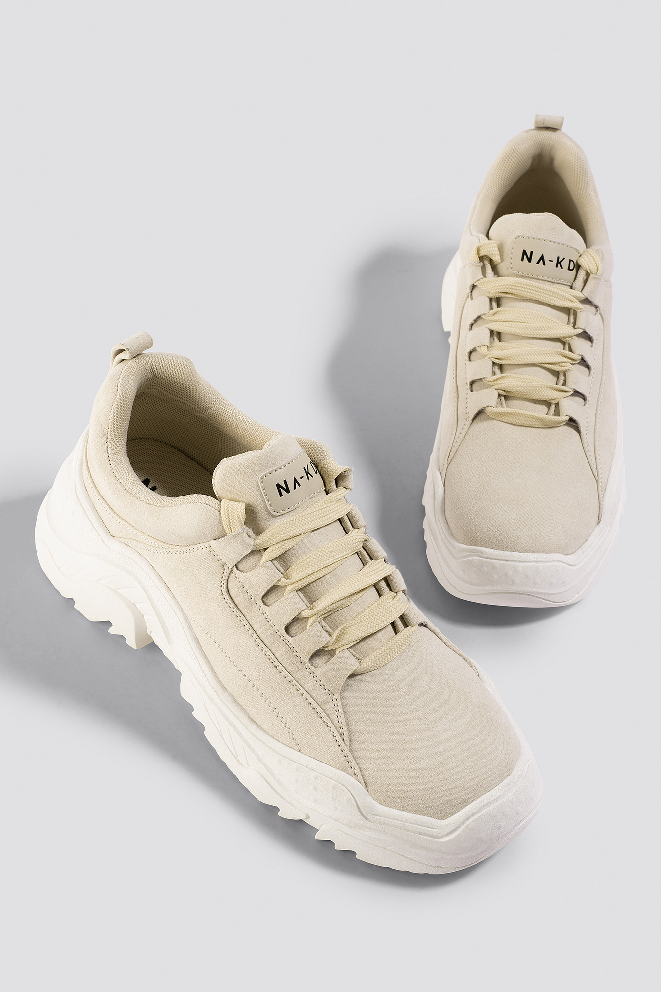 Faux Suede Profile Trainers NA-KD.COM