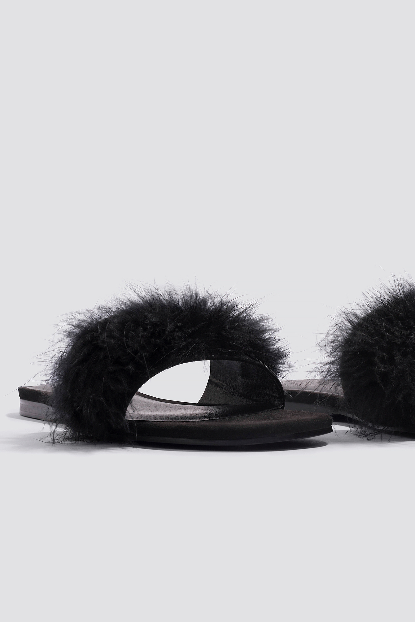 Feather Slip-In Sandals NA-KD.COM