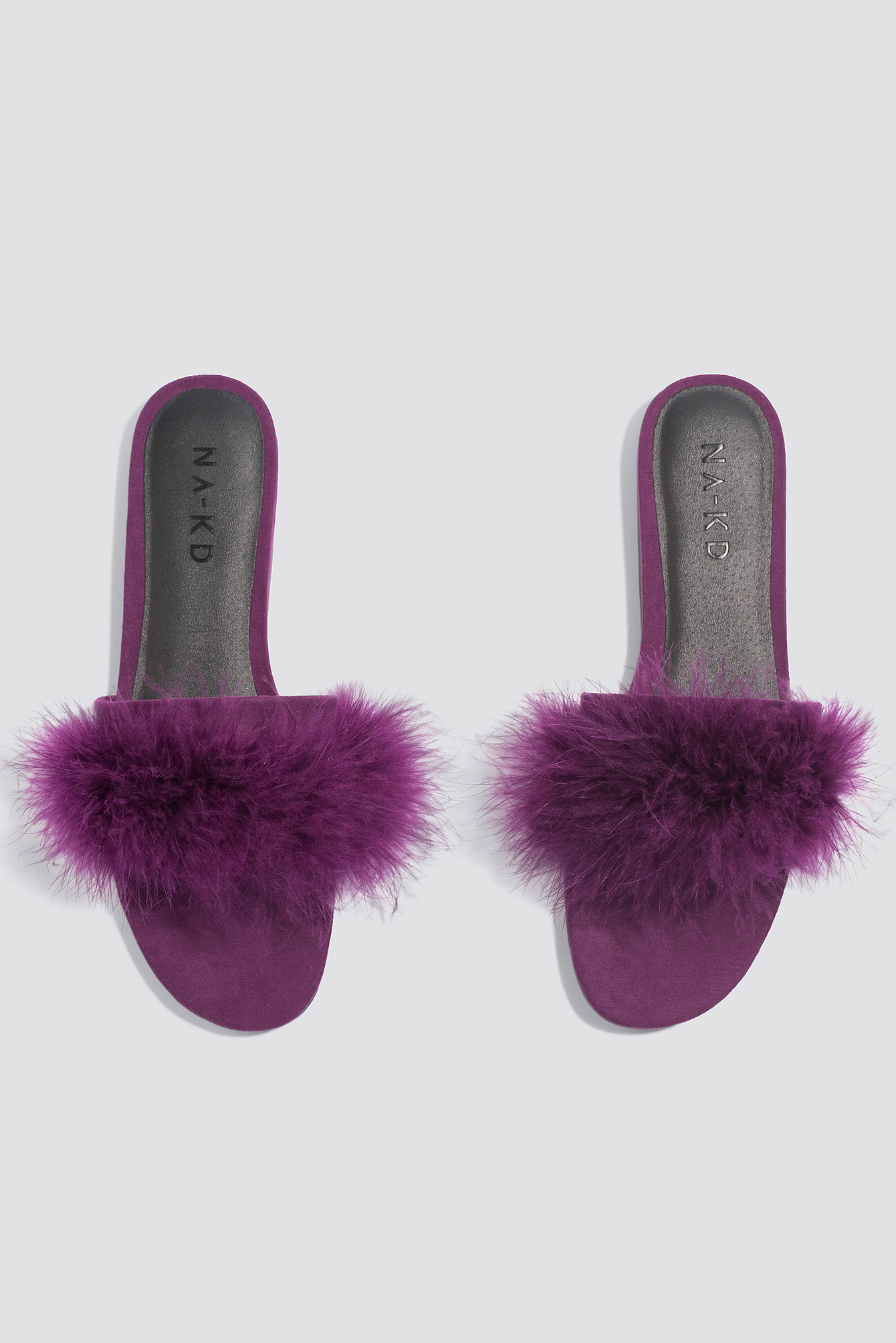 FEATHER SLIP-IN SANDALS - PURPLE