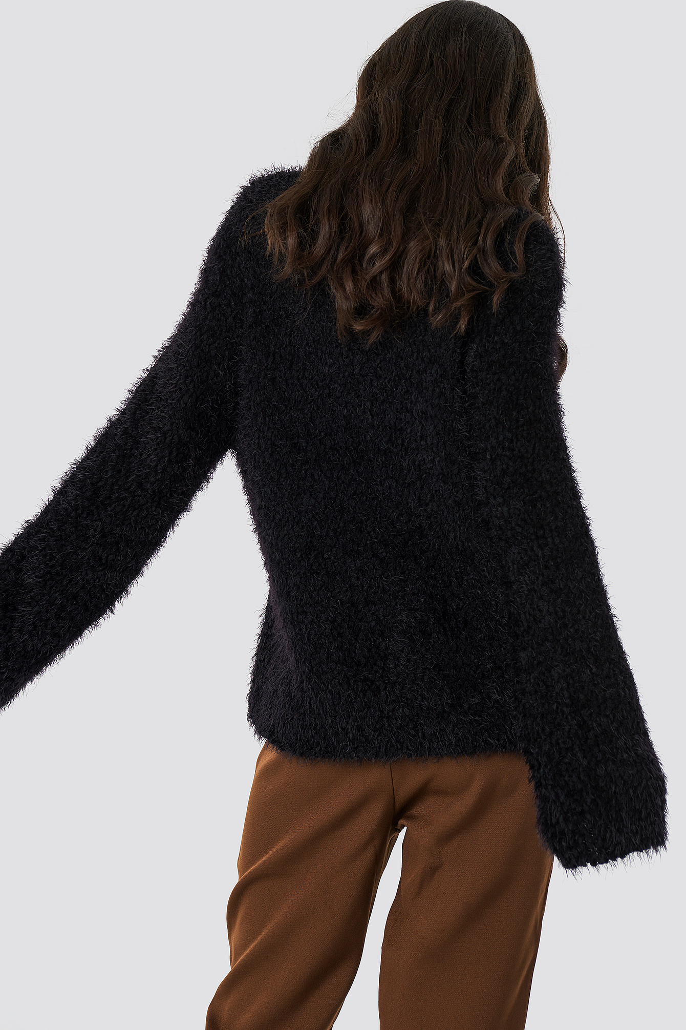Feather Wide Sleeve Sweater NA-KD.COM
