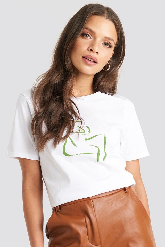 Female Form T-shirt Optical White