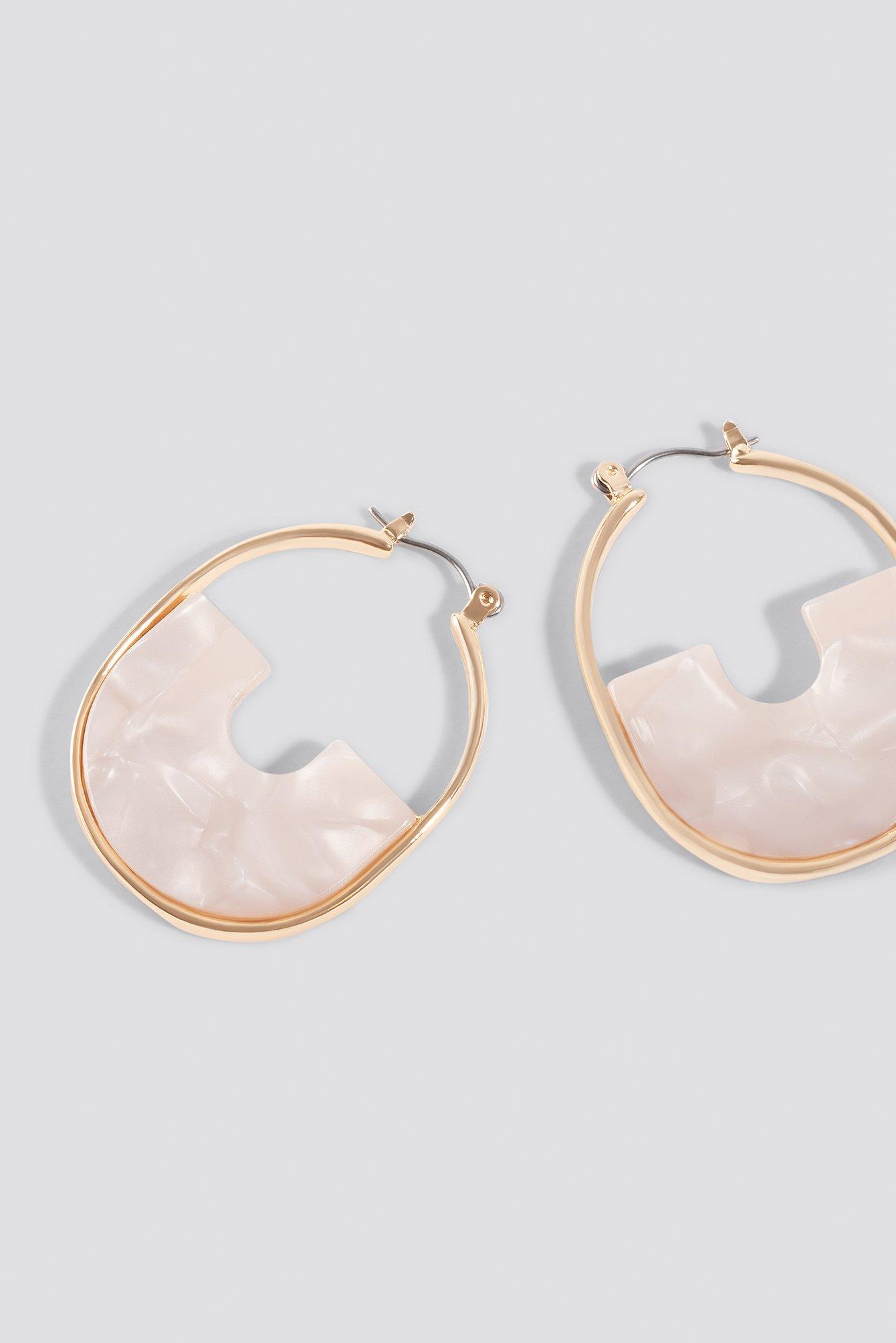 Filled Hoop Earrings NA-KD.COM