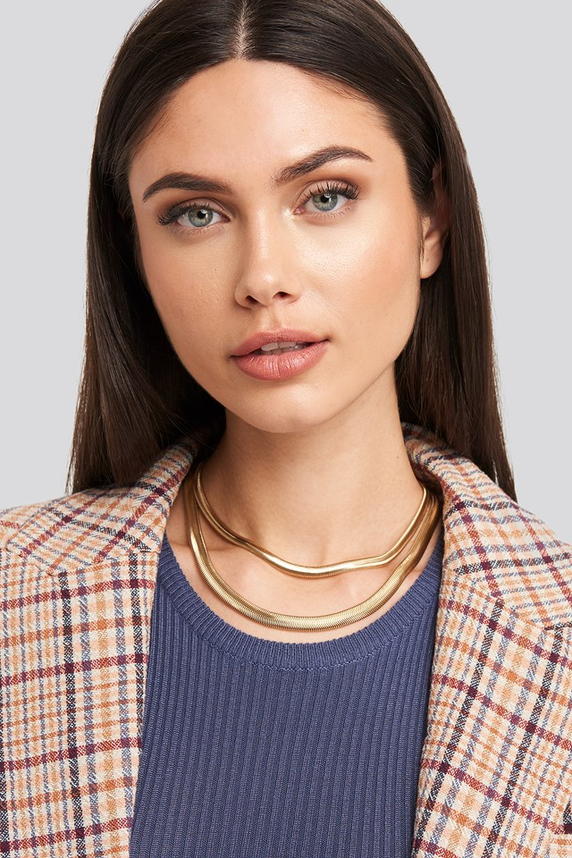 Fine Flat Chain Necklace Gold