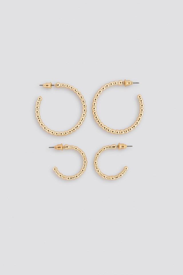 Fine Globe Hoop Earring (Double Pack) NA-KD Accessories