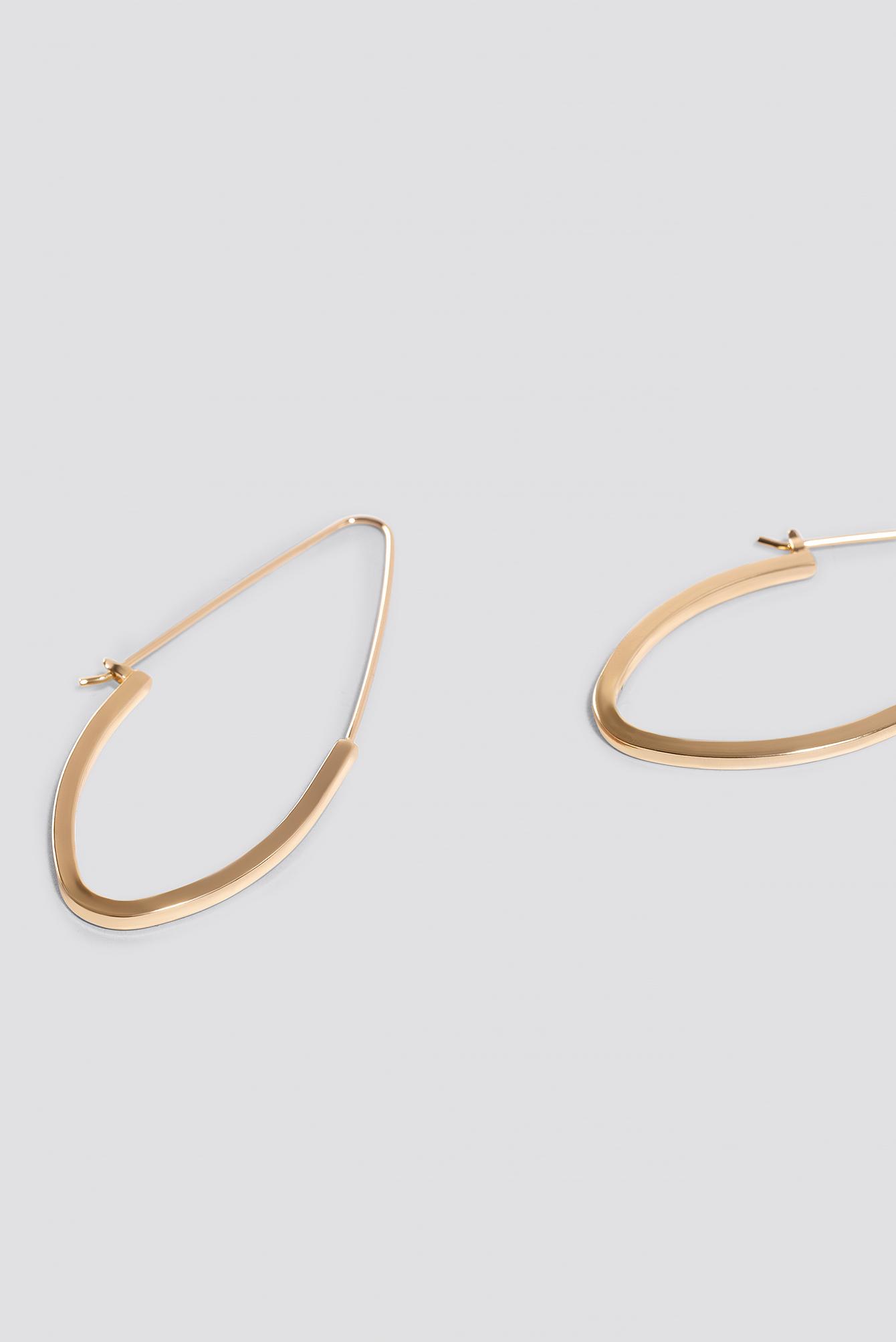 Fine Pointy Hoop Earrings NA-KD.COM