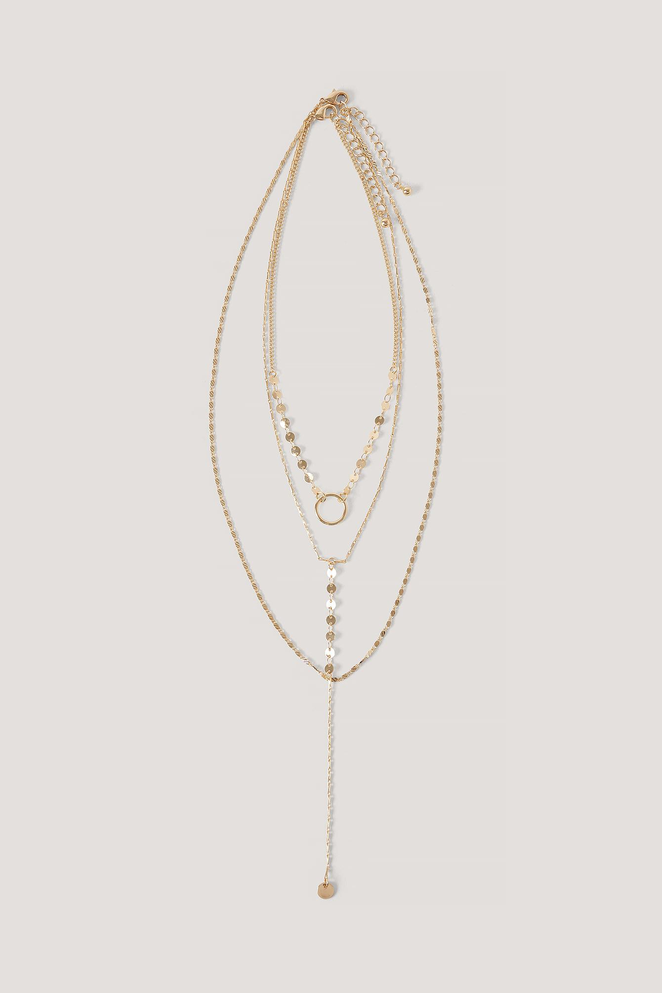 NA-KD Accessories Halsketten Mit Schönem Ringanhänger - Gold | Schmuck > Halsketten > Lange Ketten | NA-KD Accessories