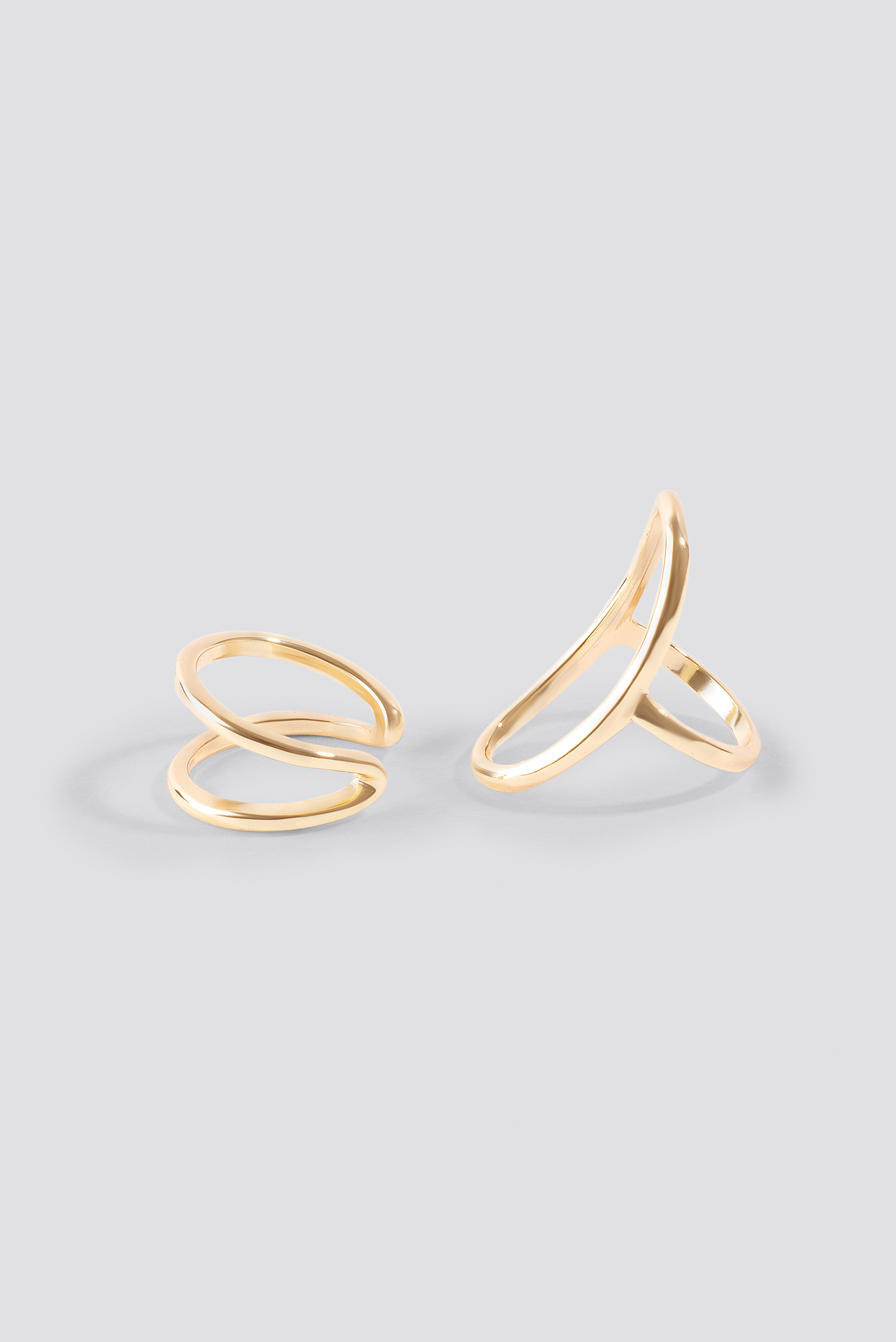 Fine Shaped Rings (Double Pack) NA-KD.COM