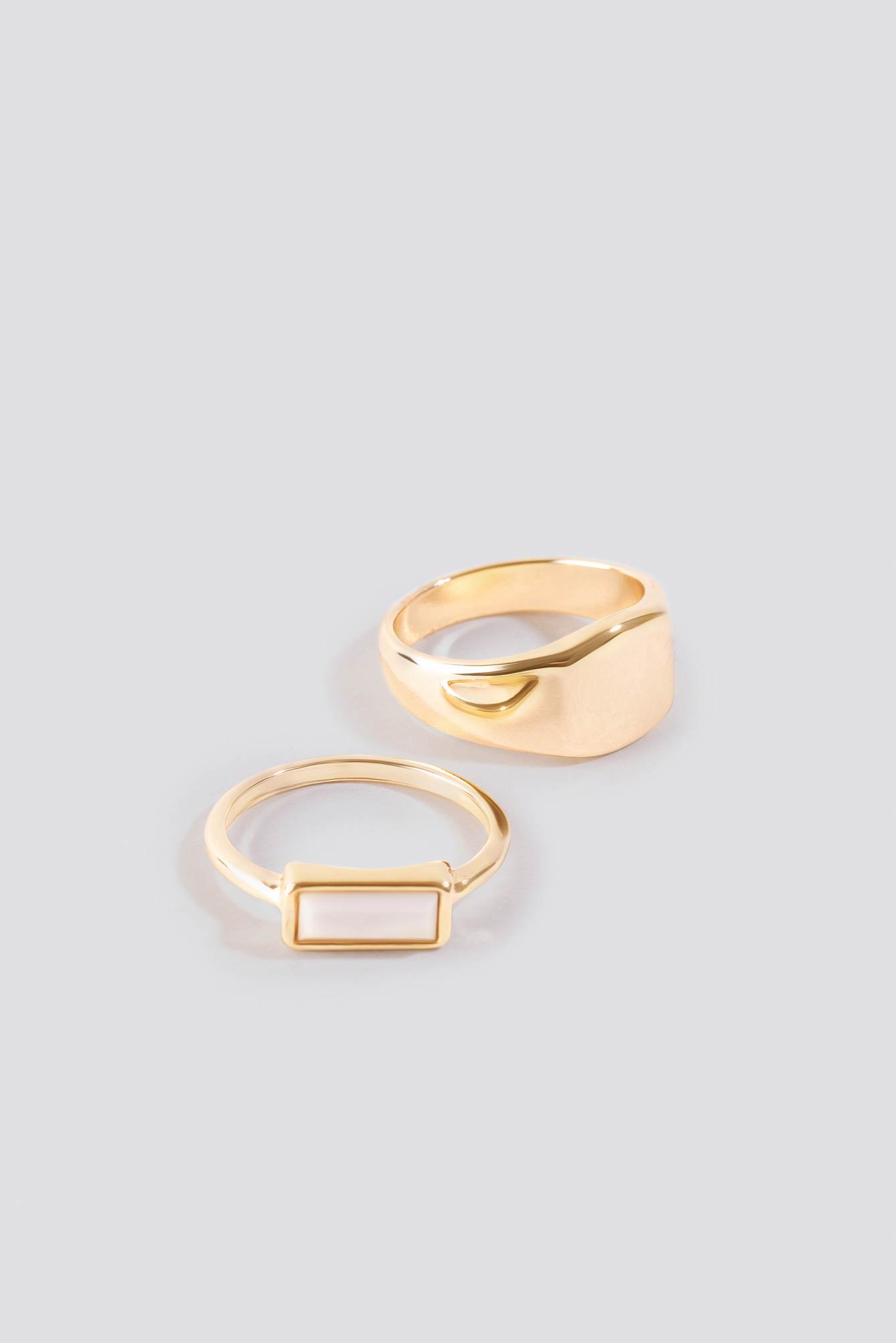 Fine Signet Rings (Double Pack) NA-KD.COM